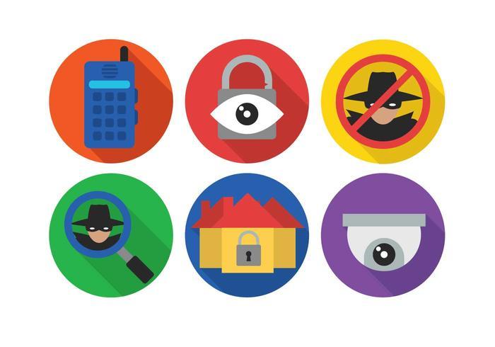 Conjunto de vectores de vigilancia de barrio