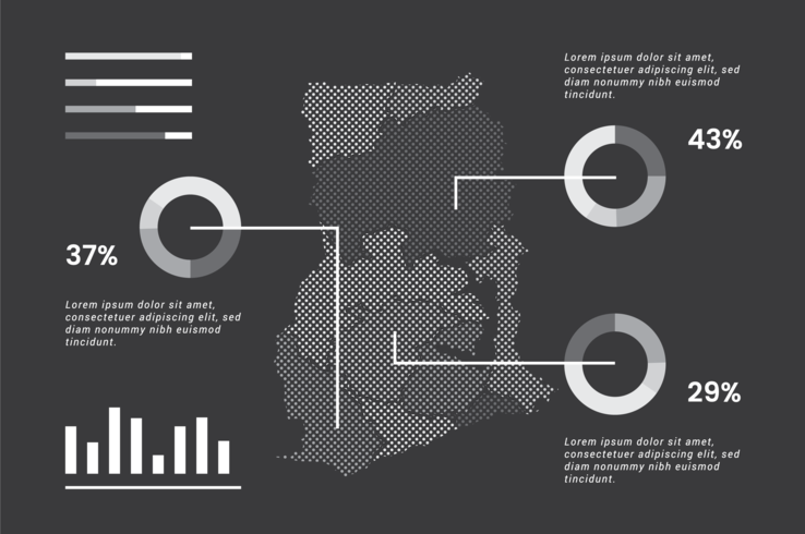 ghana karta infographic vektor