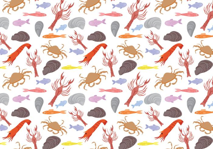 Free Seafood Pattern Vectors