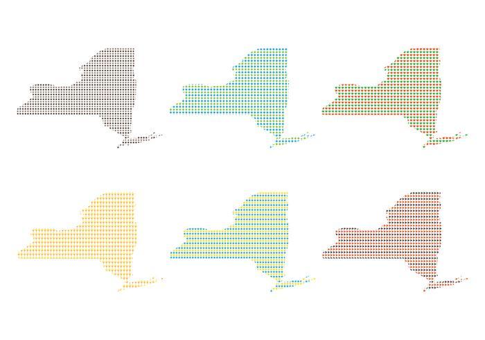 New York  Map Pattern Set