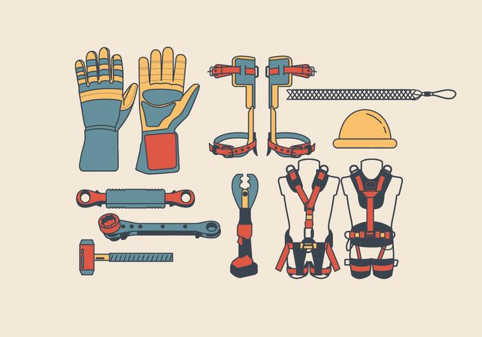 Lineman Tools & Equipment Vector