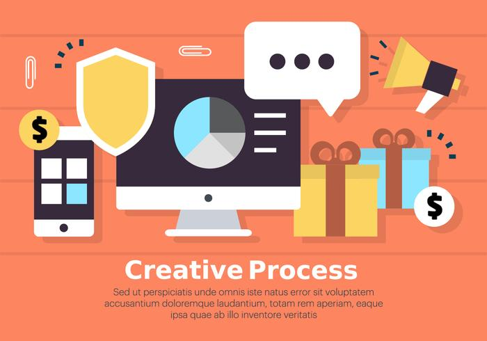 Free Digital Marketing Business Vector Illustration