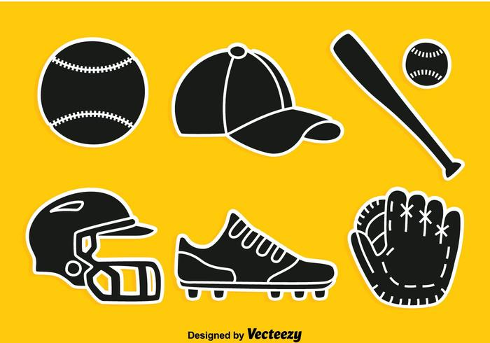 Softball Silhouette Element Vector