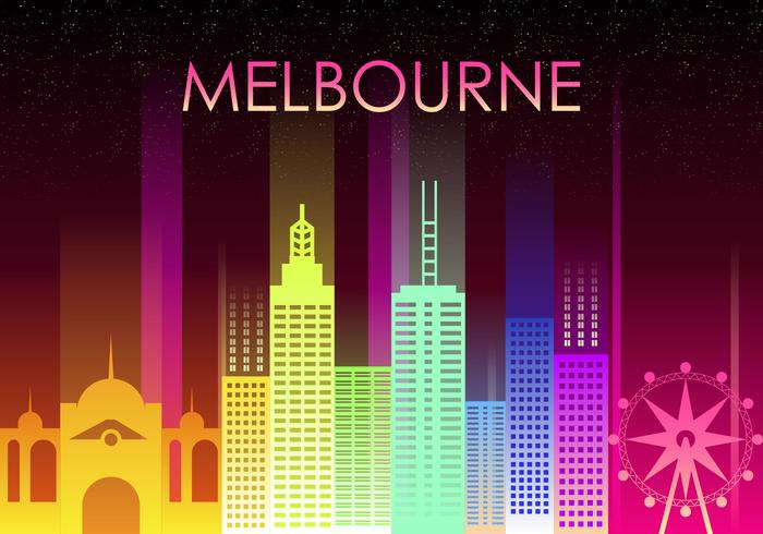 Abstract Melbourne Skyline