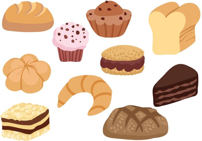 Free French Pastry Vectors