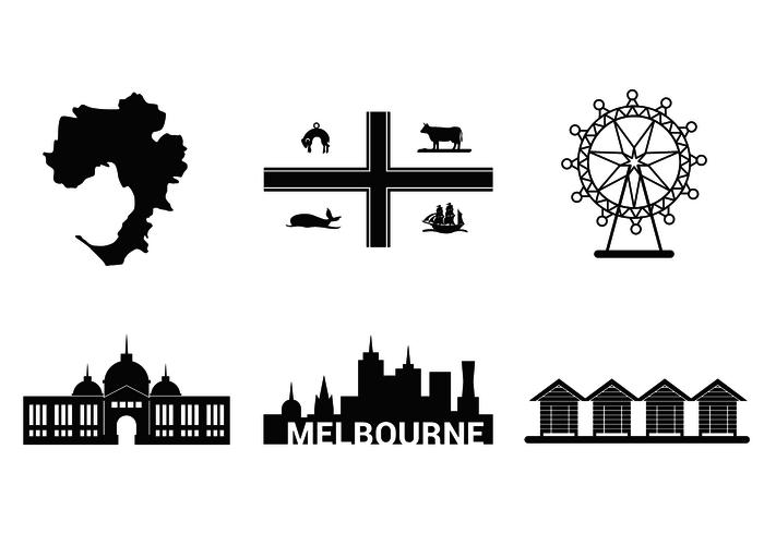 Melbourne Famous Place Vector