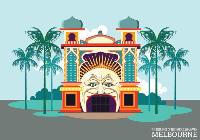 Melbourne Luna Park Tor Vektor