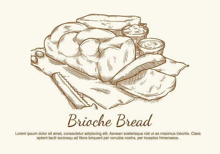 Brioche Vector Illustration