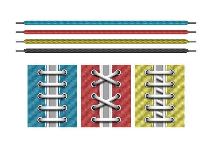 Shoestring Set Vector Illustration