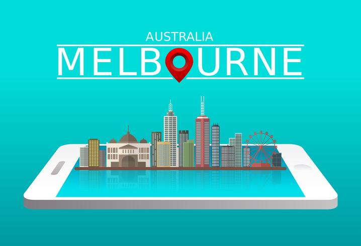 Melbourne City Free Vector
