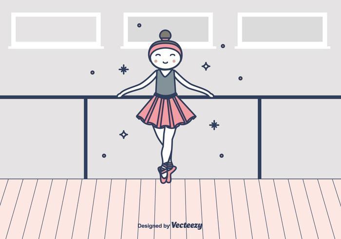 ballerina vektor illustration