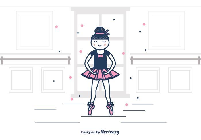 Ballerina Vector Background