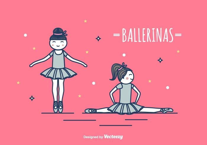 Ilustración de vector de bailarinas
