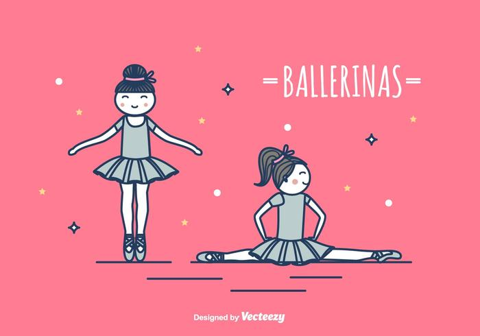 Ballerinen-Vektor-Illustration