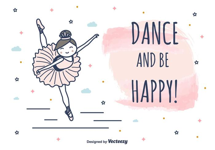 Dance And Be Happy Vector Background