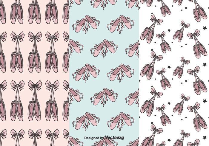 patrón de vectores de zapatos de ballet de ballet
