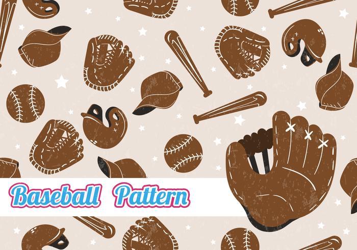 Softball sömlös mönster
