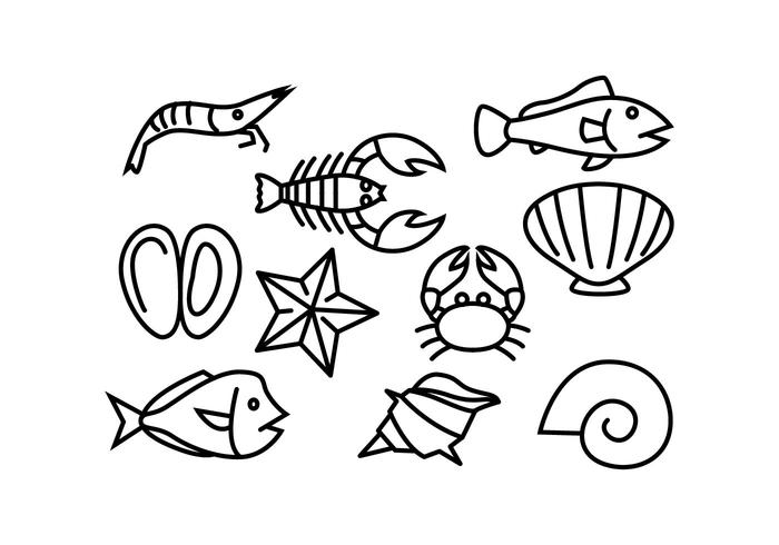 Free Sea Line Icon Vector