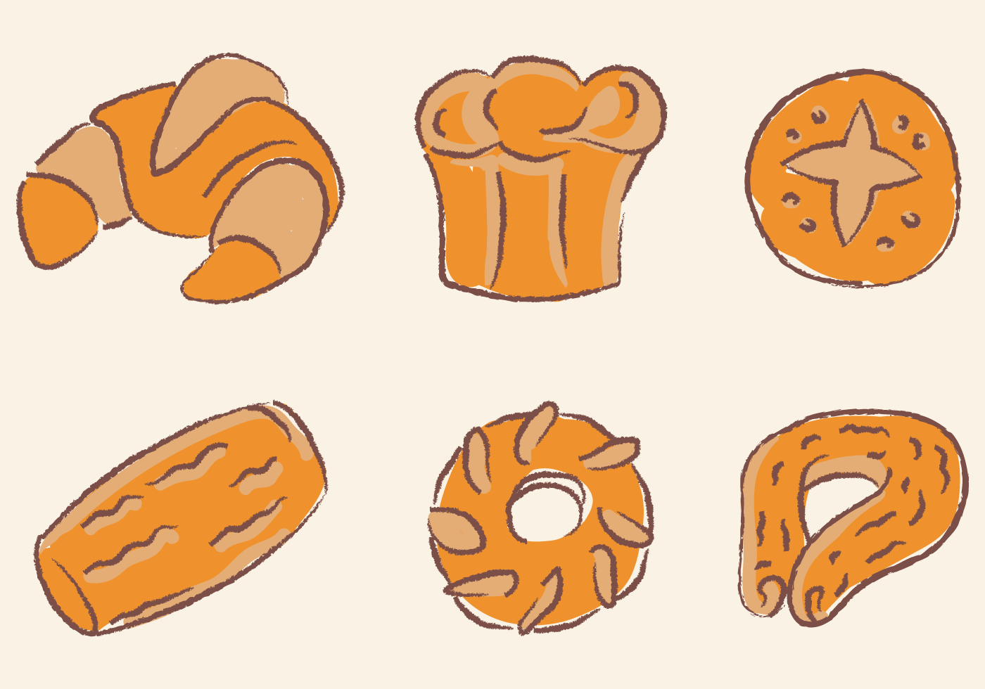 Hand Drawing Brioche Vector Products Download Free