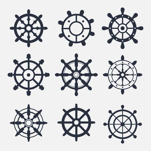 Ship Wheel Icon Vectors