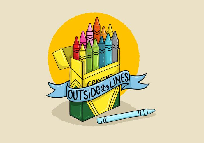 Colorful Crayons Design Vector