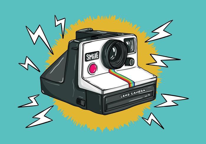 Vecteur de caméra Polaroid rétro