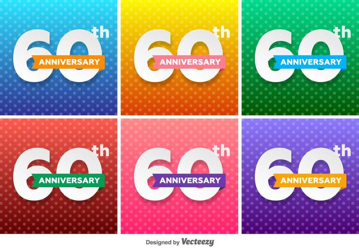 60th Vector Badges