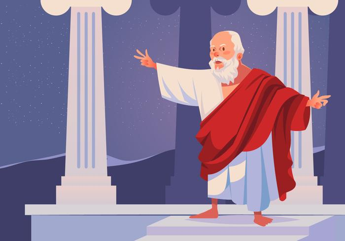 Philosopher Socrates Vector