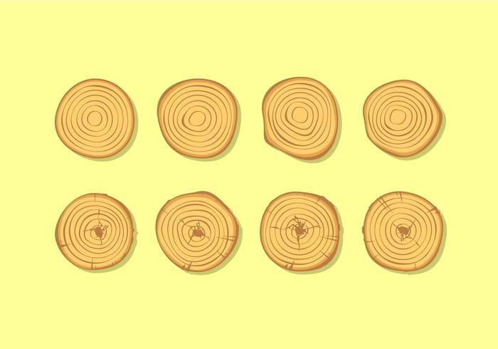 Tree Rings Free Vector