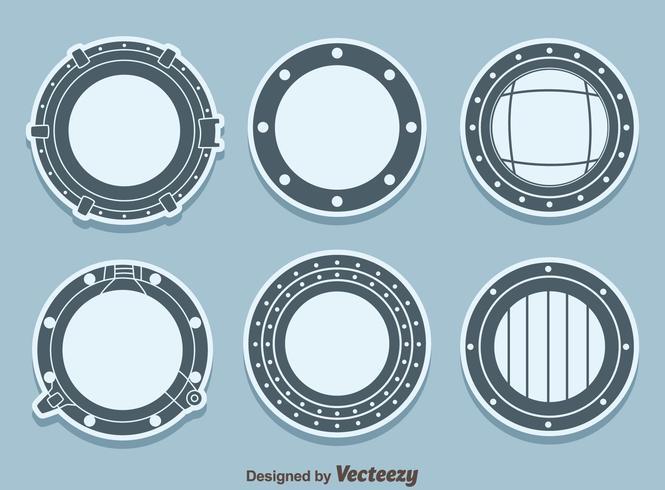 schip porthole vector