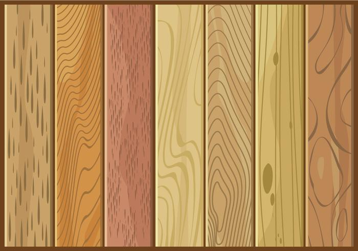 Various Kinds Of Wood Texture Free Vector