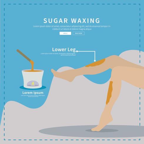 Free Sugar Waxing Illustration