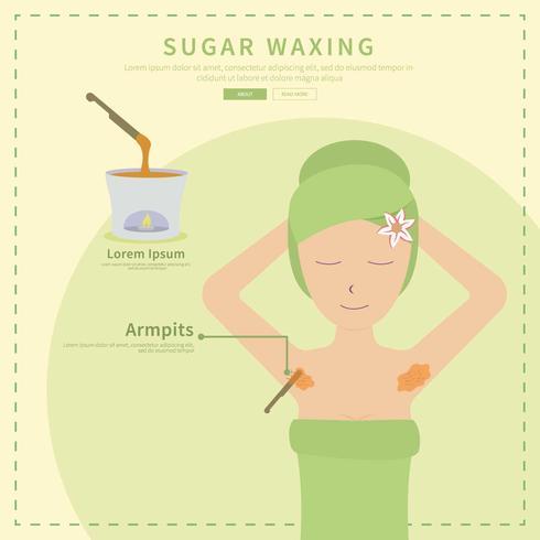 Free Sugar Wachsen mit grünem Thema Illustration