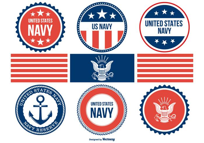 Assorted Navy Badges Collection