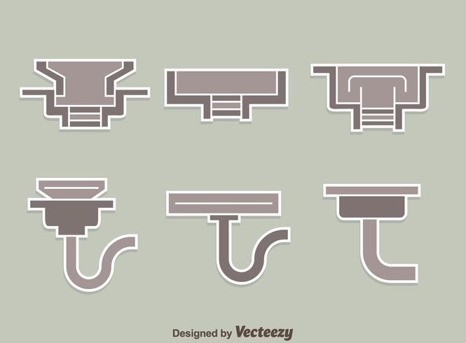 Gutter Collection Op Grijze Vector