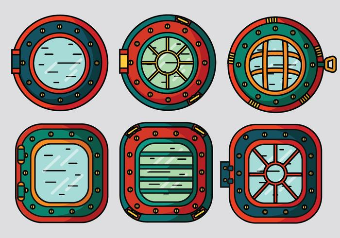 porthole vector pack