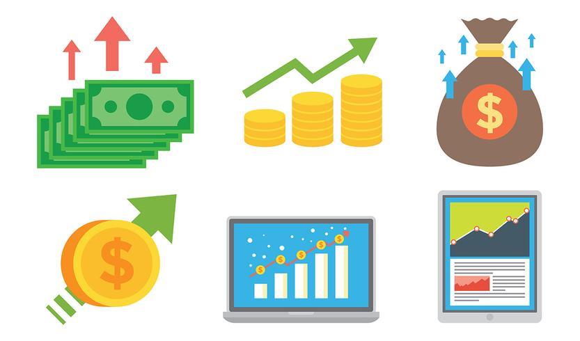 Inkomsten Vector Pictogrammen