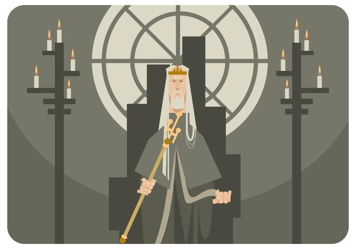 Der König auf dem Thron