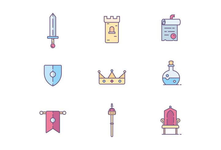 Kingdom, Medieval, and Fantasy Icons