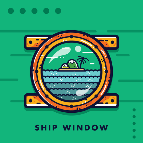 Gratis Ship Window Vector