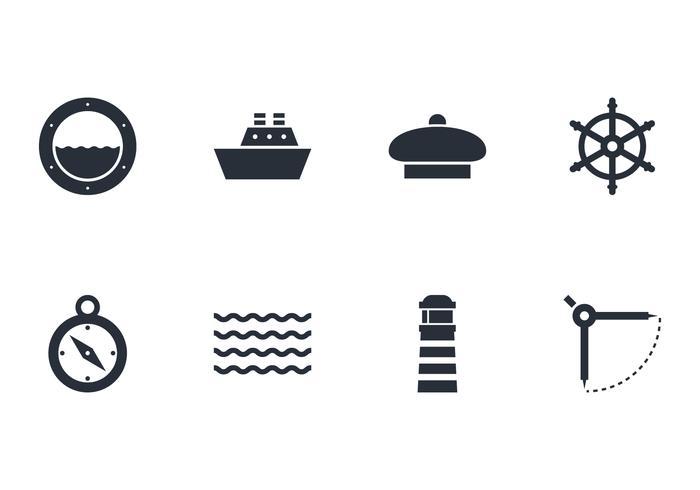 Confezione di vettori di icone nautiche