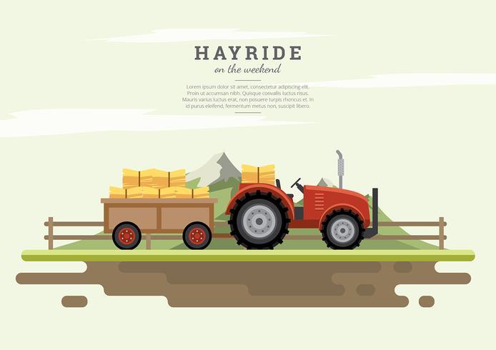 Hayride Gratis Vector