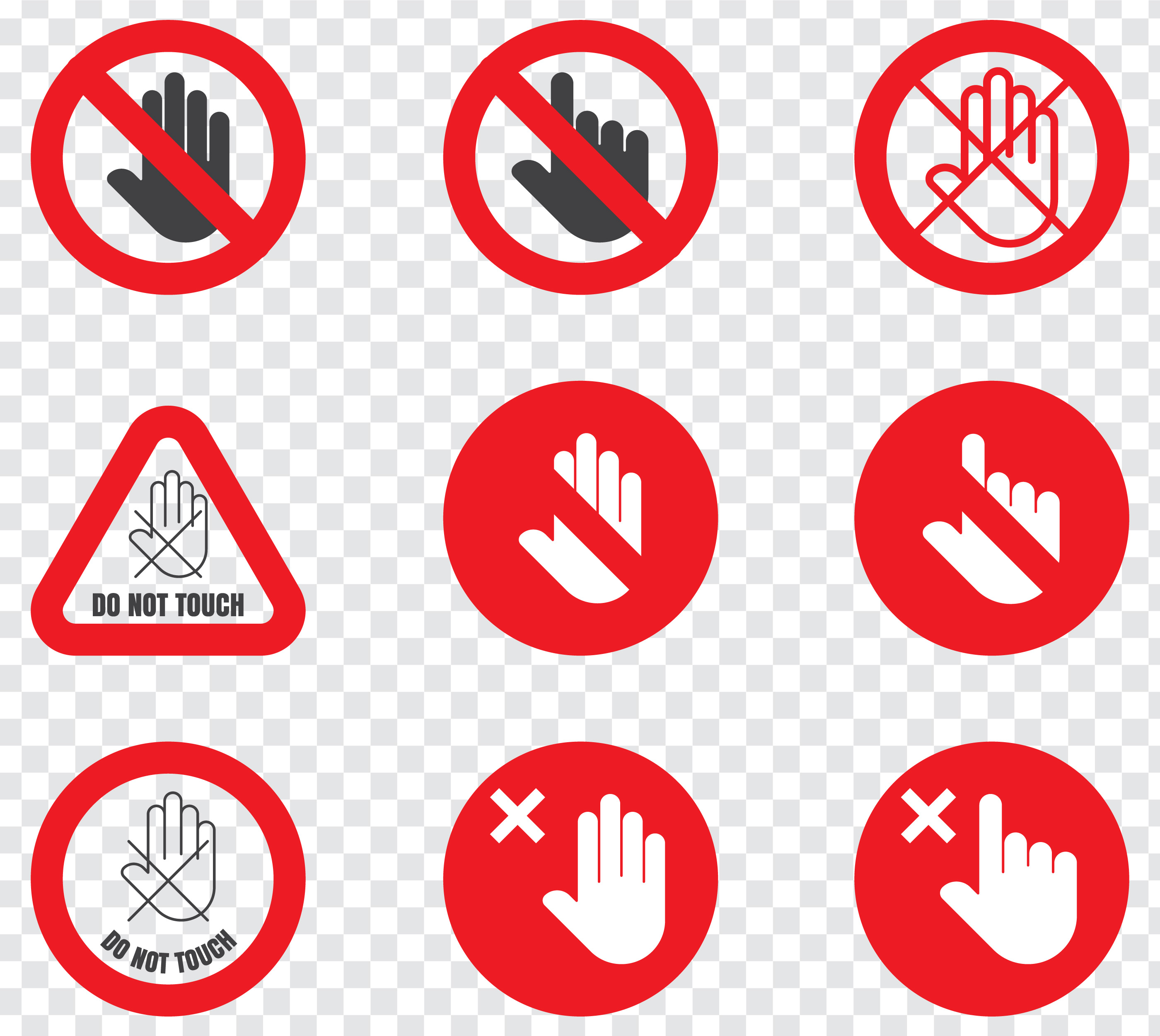 Prohibition Sign Do Not Touch - Download Free Vectors ...
