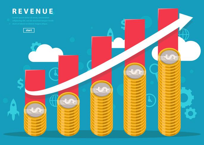 Vector Business Revenue Chart