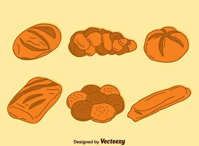 Hand getekende Bread Collection Vector