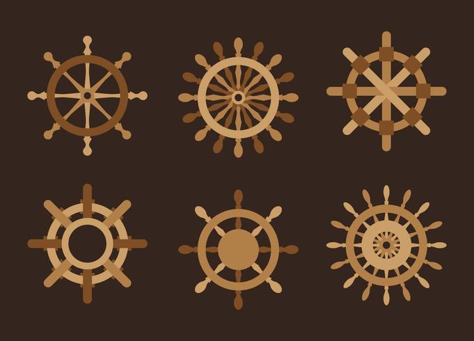 Vettore del pacchetto della ruota delle navi