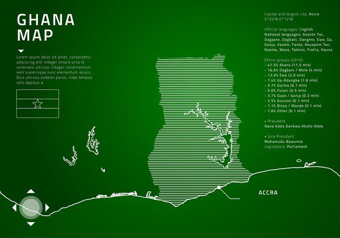 Ghana Tech Map Gratis Vector