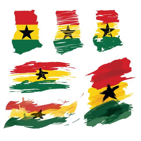 Ghana Map Rough Paint Free Vector
