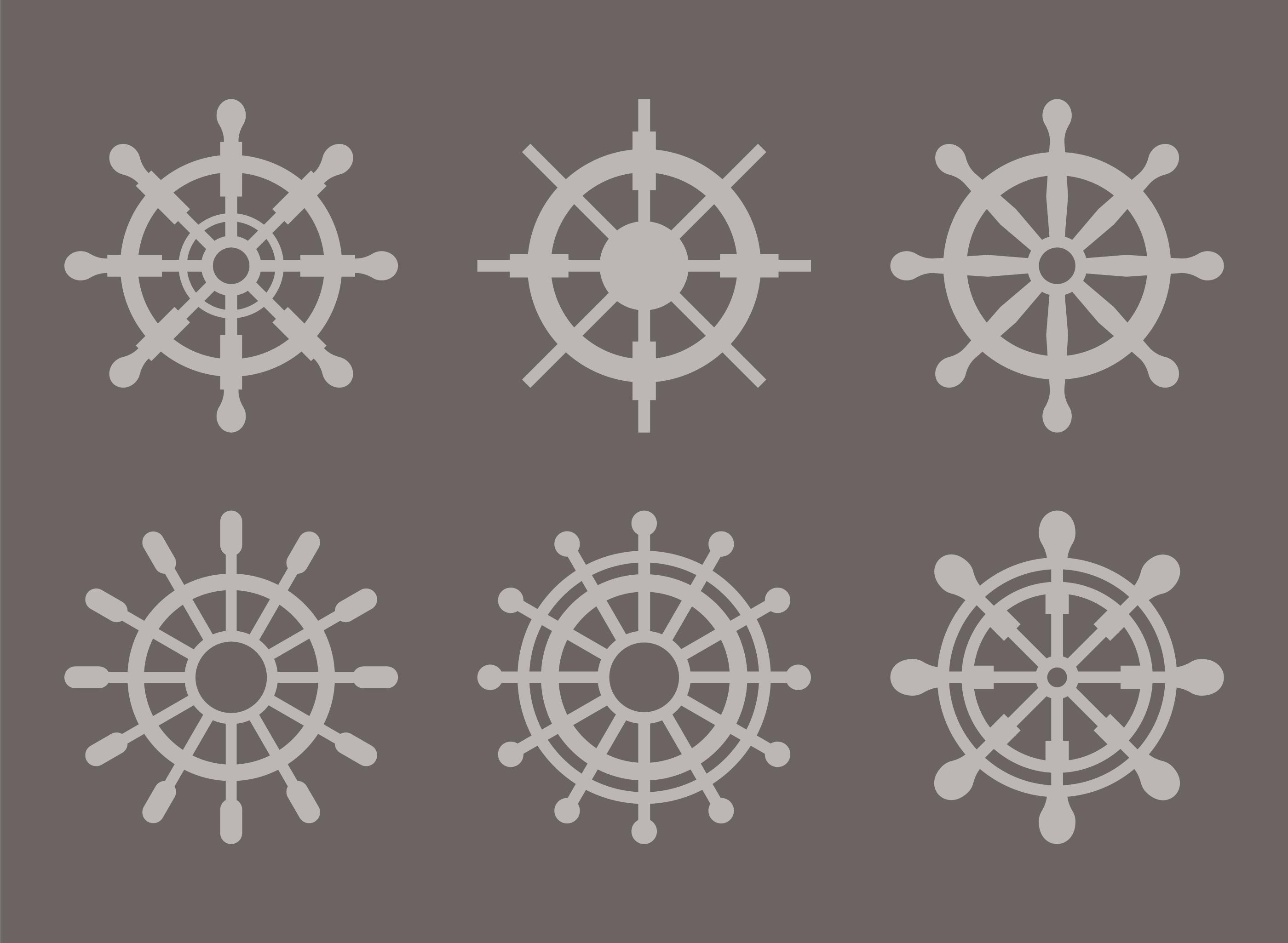Ships Wheel Silhouette Vectors Download Free Vectors