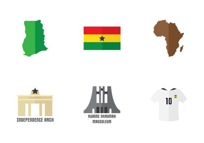Ghana Icon Set